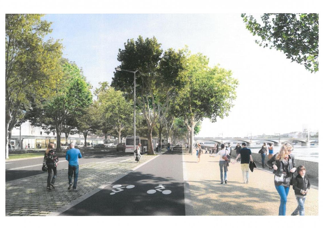 Bientôt , le quai Perrache sera un beau boulevard urbain.